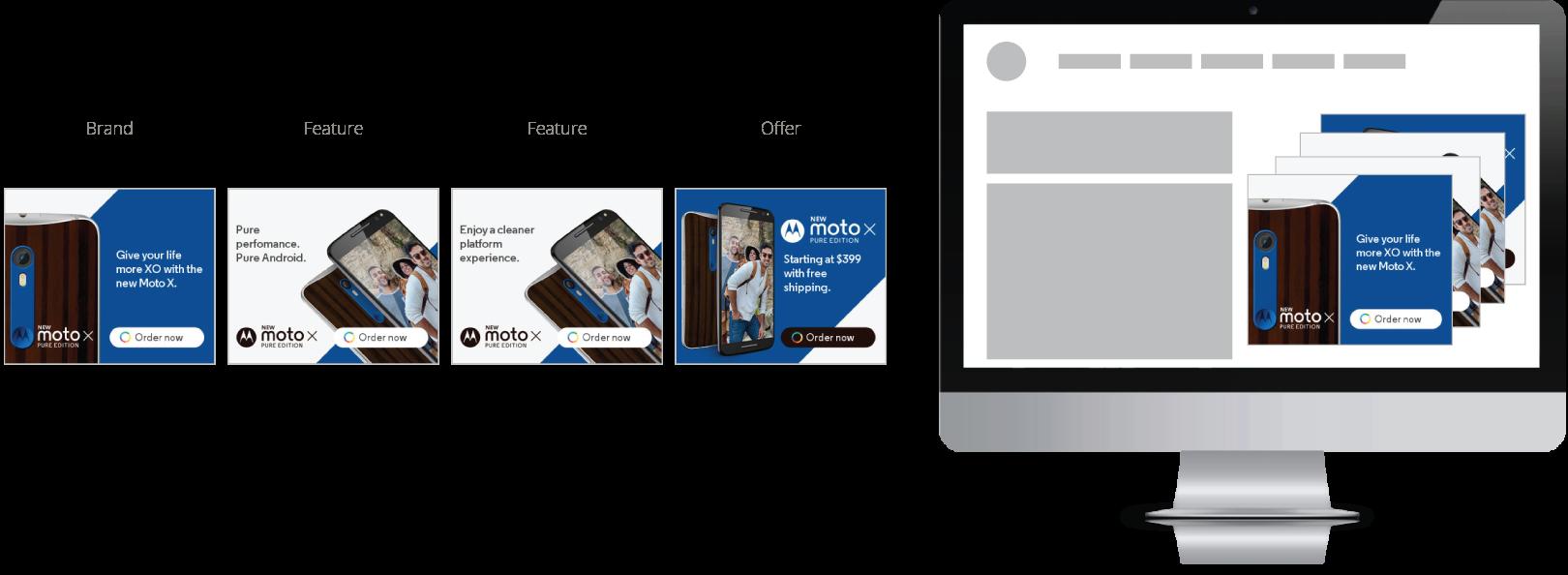 Motorola Dynamic Ad Examples